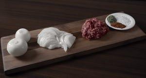 Produkty dla przygotowania empanada Argentina zdjęcia royalty free
