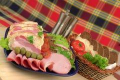 produkty mięsne wędzone Fotografia Royalty Free