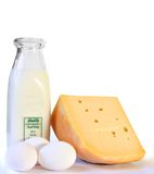 produkty mleczarskie Obrazy Royalty Free
