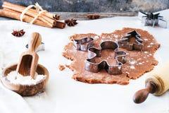 Produrre i biscotti Immagine Stock