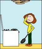 Produrre i pancake royalty illustrazione gratis