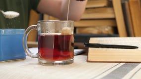 Produrre tè durante lo studio dell'università video d archivio