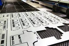 Produto acabado da máquina de corte do laser foto de stock