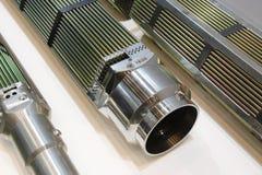 Produto componente do elemento de combustível TVEL A exposição é 70 anos de Rosatom Corporaçõ Moscou fotos de stock royalty free