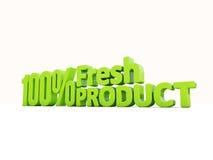 produto 3d fresco Fotografia de Stock Royalty Free