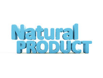produto 3d natural Foto de Stock Royalty Free
