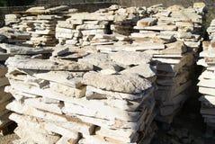Produto das pedras do armazém ou da fábrica da construção Foto de Stock