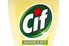 Produto de limpeza do agregado familiar do Cif Foto de Stock