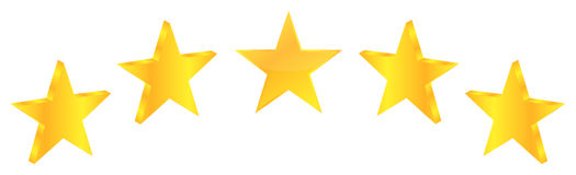 Produto do prêmio da qualidade de cinco estrelas Imagens de Stock Royalty Free