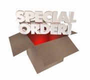 Produto feito sob encomenda da encomenda especial feito para você caixa ilustração royalty free