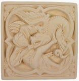 Produto manufacturado de pedra de Saint George que massacra o dragão Foto de Stock Royalty Free