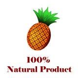 produto natural de 100 por cento um abacaxi Imagem de Stock
