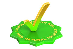 produto natural de 100%, rendição 3D Fotos de Stock