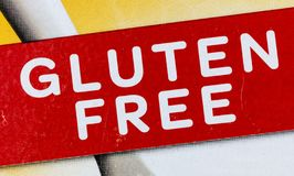Produto sem glúten da etiqueta do alimento alergy fotografia de stock royalty free