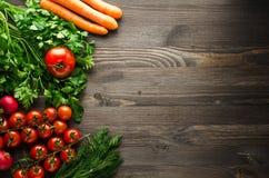 Produto-vegetais frescos de vegetables Fundo colorido dos vegetais Vegeta saudável Imagens de Stock