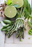 Produto verde saudável no branco fotos de stock