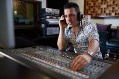 Produtor da música foto de stock royalty free