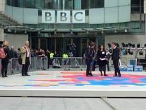 Produtores da eleição da BBC que preparam-se Foto de Stock Royalty Free