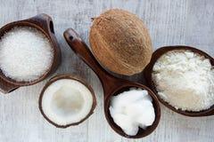 Produtos caseiros do coco Imagem de Stock