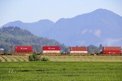 Produtos chineses transportados através de America do Norte Fotos de Stock Royalty Free