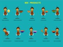 Produtos da abelha Foto de Stock