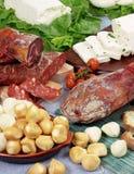 Produtos da carne de porco com queijo imagem de stock royalty free