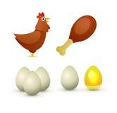 Produtos da galinha Imagem de Stock Royalty Free