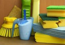 Produtos da limpeza e do saneamento Imagens de Stock Royalty Free