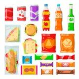 Produtos da máquina de venda automática Imagem de Stock Royalty Free