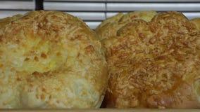 Produtos da padaria Clouse acima vídeos de arquivo