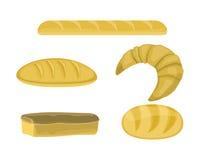 Produtos da padaria no estilo liso Foto de Stock Royalty Free
