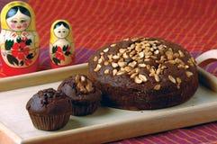 Produtos da padaria - queques & bolos Imagens de Stock Royalty Free
