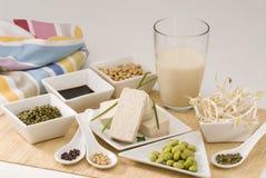 Produtos da soja Imagem de Stock Royalty Free