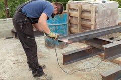 Produtos de aço do cabo flexível dos cortes do homem Foto de Stock Royalty Free