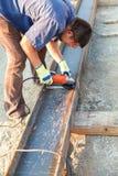 Produtos de aço do cabo flexível dos cortes do homem Foto de Stock