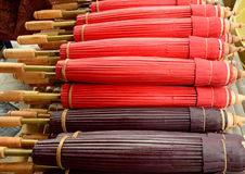 produtos de bambu feitos a mão Imagem de Stock