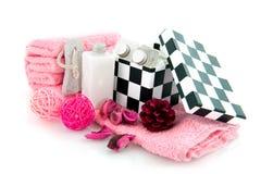 Produtos de beleza para a matriz Fotografia de Stock Royalty Free