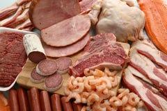 Produtos de carne Fotografia de Stock