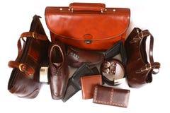 Produtos de couro Fotos de Stock
