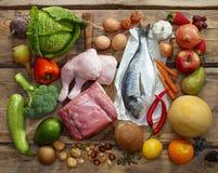 Produtos de dieta de Paleo imagens de stock