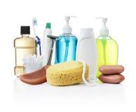 Produtos de higiene pessoal Foto de Stock