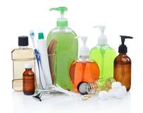 Produtos de higiene pessoal fotos de stock