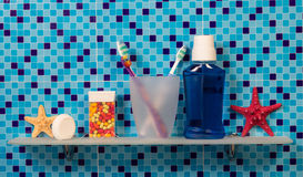 Produtos de higiene pessoal Fotografia de Stock