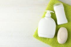 Produtos de higiene pessoal Foto de Stock Royalty Free