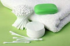 Produtos de higiene pessoal Fotografia de Stock Royalty Free