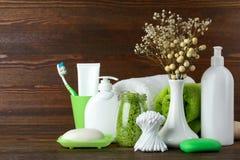 Produtos de higiene pessoal Imagem de Stock