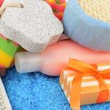 Produtos de higiene pessoal de R Imagem de Stock