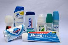 Produtos de higiene pessoal venezuelanos Fotografia de Stock Royalty Free