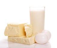 Produtos de leite fotografia de stock royalty free