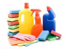 Produtos de limpeza Fotografia de Stock
